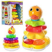 """Развивающая игрушка Чудо-пирамидка """"Музыкальный цыпленок"""" 7015-7040 , 3в1, муз, свет, 2 вида, на бат-ке"""
