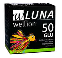 ТЕСТ-СМУЖКИ Wellion LUNA (2 х 25шт) 50 ШТ.