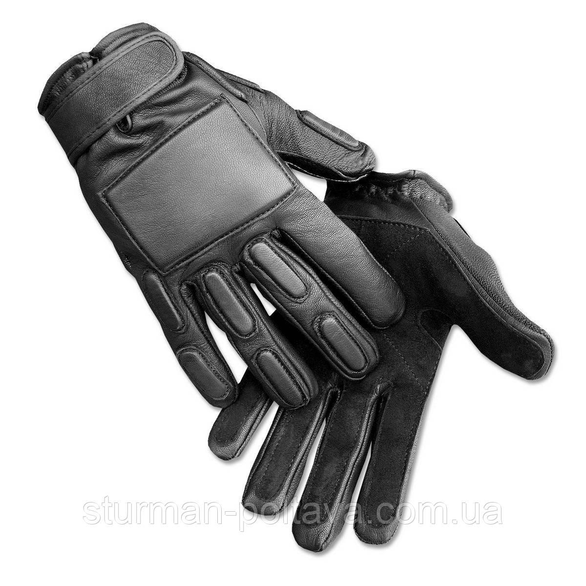 Перчатки армейские Mil-Tec   кожаные со ставками Германия
