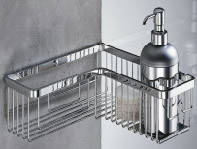 Угловая полочка-сетка для ванной комнаты B9614 Colombo 28х28x8см