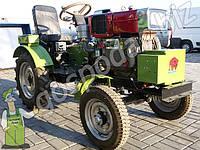 Мото трактор Бизон 15 л/с (сос тартером, плугом и фрезой)