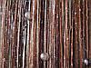 Кисея Радуга дождь с бусинами  ( шоколад+коричневый+беж)