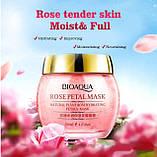 Нічна пом'якшувальна маска для обличчя з пелюстками троянд BioAqua, фото 2