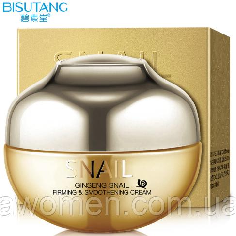 Крем для лица Bisutang Ginseng Snail с экстрактом слизи улитки и женьшеня 55 g