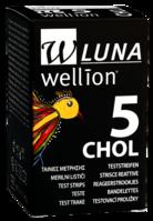 Тест-полоски для тестирования уровня холестерина  в крови Wellion® LUNA (5 шт.)