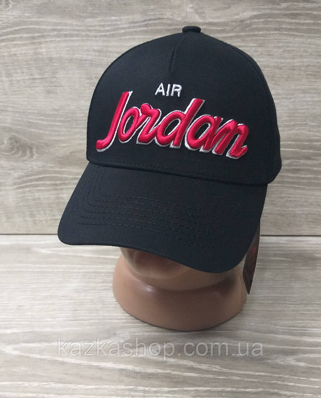 Мужская котоновая кепка в стиле Jordan (реплика), сезон весна-лето, большая вышивка, резинка,  размер 57-58.