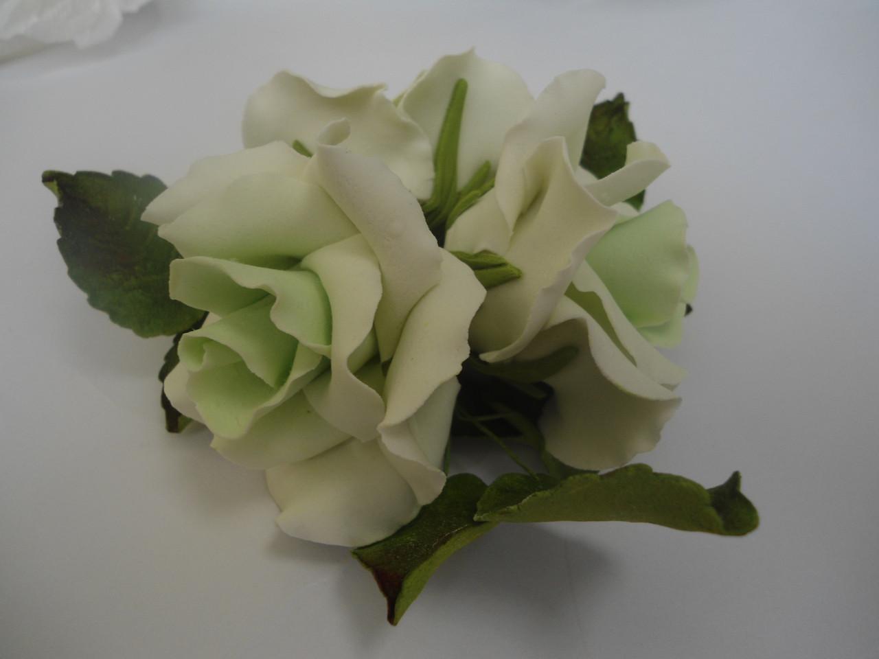 """Букет """"Розы светло-зелёные"""" d160 3шт. Украина - 03900"""