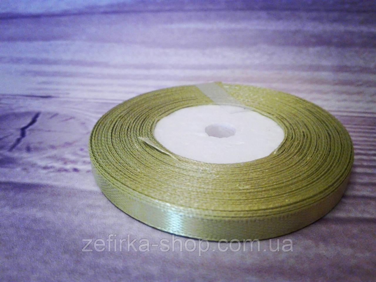 Атласная лента,   0,6 cм оливка