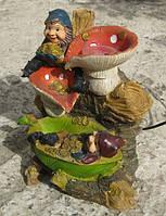 Фонтан с подсветкой и шариком Гномы грибы