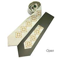 """Мужской галстук с вышивкой """"Орел"""""""