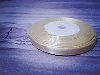 Атласная лента,  0,6  cм кремовый