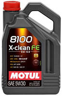 Масло моторное синтетическое  MOTUL 8100 X-CLEAN FE SAE 5W30 (5L) 104777