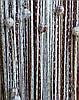 Кисея Радуга дождь с бусинами  (белый+шоколад++беж)