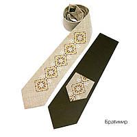 """Мужской галстук с вышивкой """"Братимир"""""""