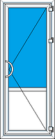 Дверь входная металлопласт одноств Brokelman (0,9ширх2,1выс), фурнитура Vorne, доводчик