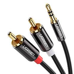 Кабель аудио Ugreen 3.5 mm to 2RCA 0.5М (AV116)