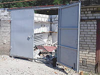 Ворота гаражные 3х2,5 м металл 2,0 мм в рамке