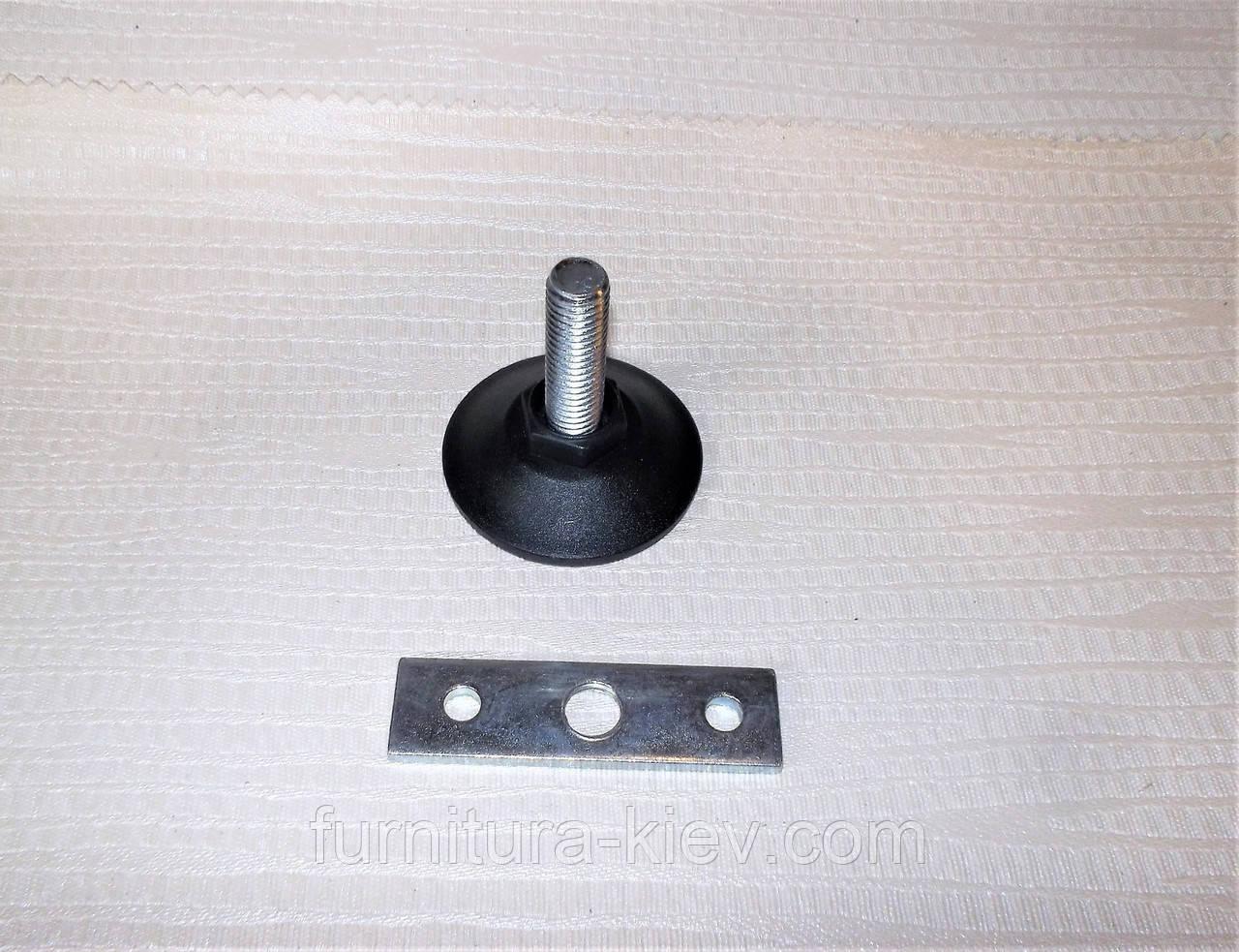 Ножка мебельная резьба М10 с планкой, фото 1