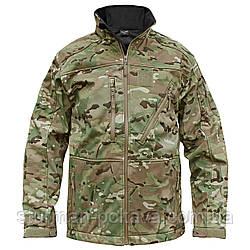Куртка мужская  тактическая демисезонная  SOFTSHELL JACK  SCU Mil-Tec  камуфляж  мультикам   Германия