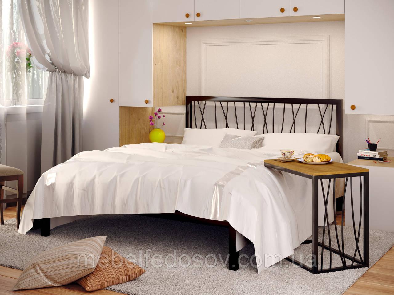 Кровать металлическая Бергамо 1 / Bergamo 1 односпальная 90 (Метакам)