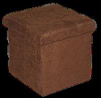Коричневый велюровый пуфик раскладной , фото 1