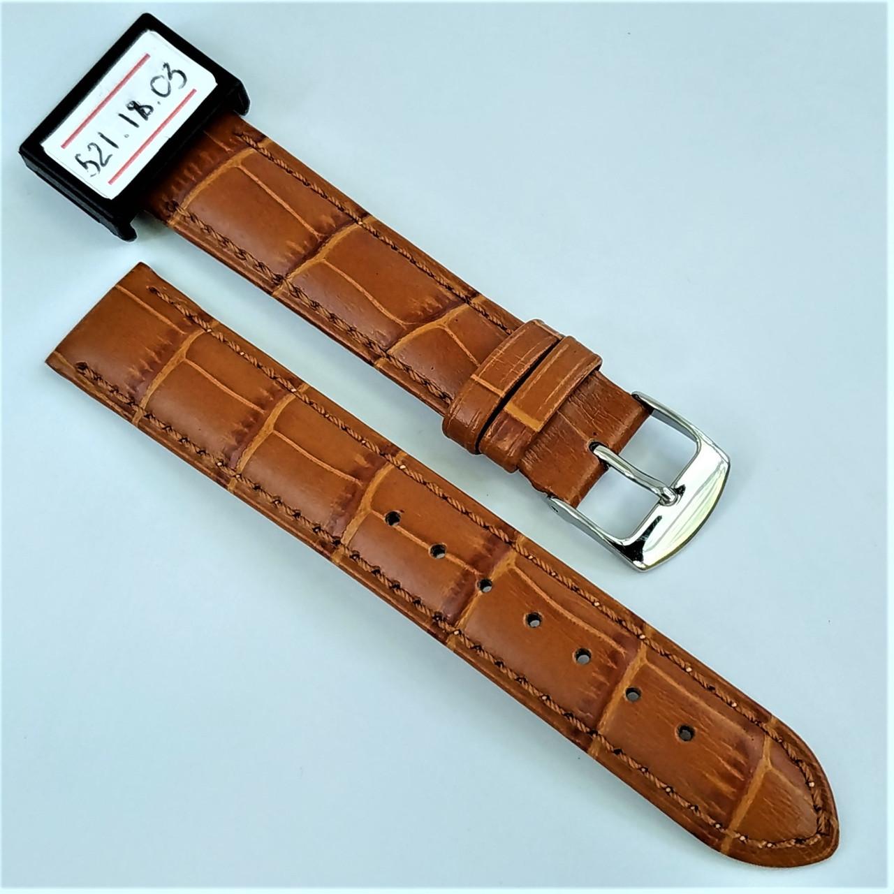 18 мм Кожаный Ремешок для часов CONDOR 521.18.03 Коричневый Ремешок на часы из Натуральной кожи