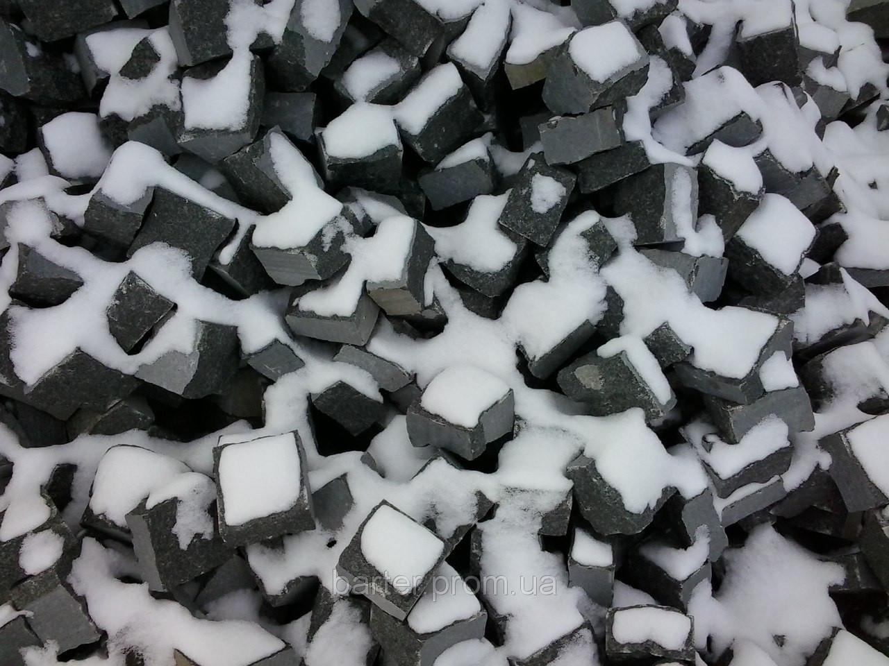 Производство брусчатки гранитной покостовка колотая 5*5*5
