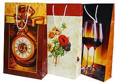 Пакет подарочный W3-1201 (40.5*24*9 см) микс, фото 2