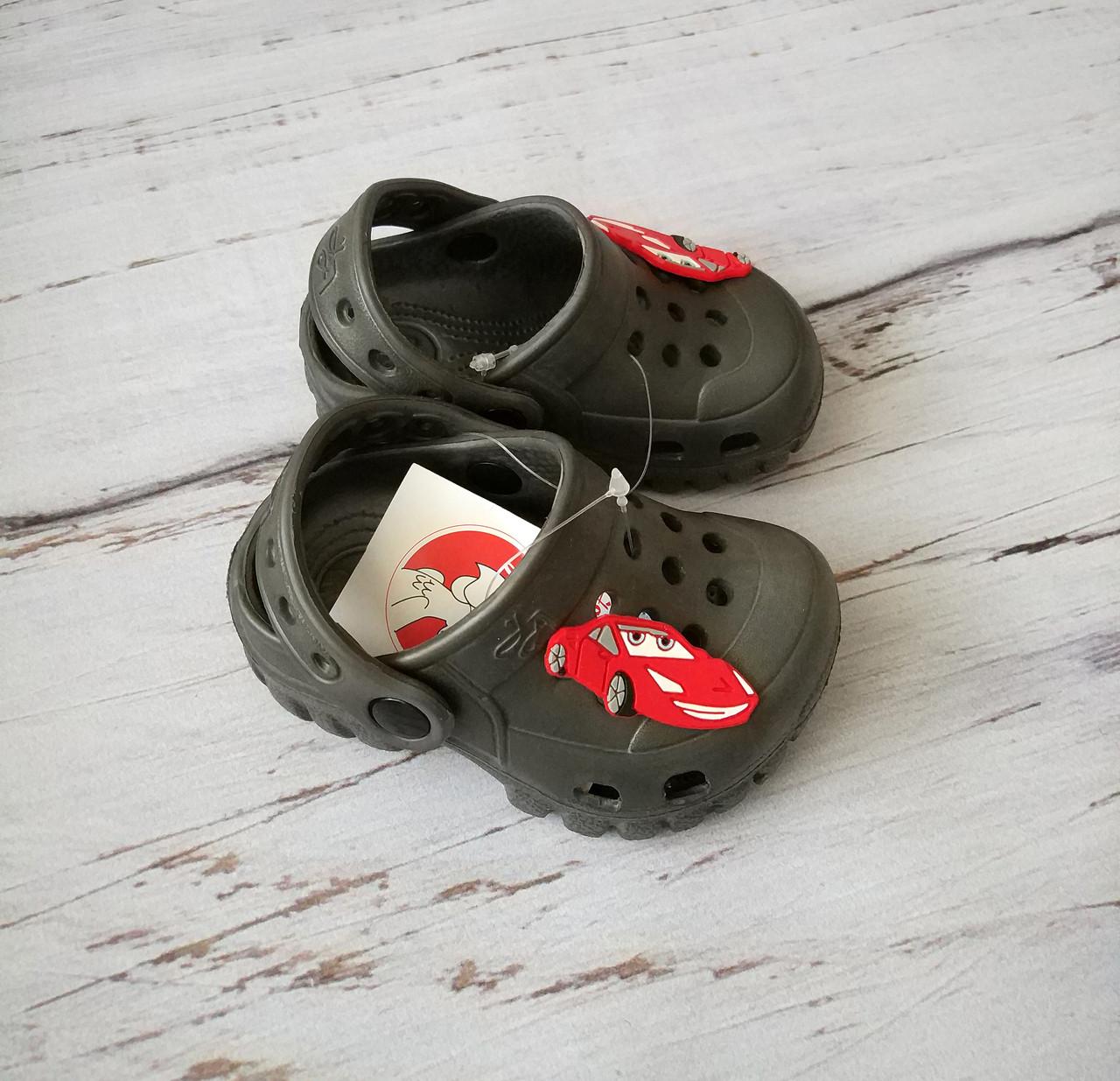 Крокси коричневі, пляжне взуття для хлопчиків, сабо Jose Amorales