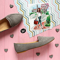 Женские туфли лоферы из натуральной замши Возможен отшив в других цветах