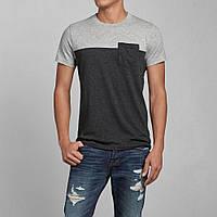 Мужская футболка двухцветная с кармашком