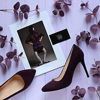 Женские туфли лодочки из натуральной замши Возможен отшив в других цветах