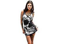 Платье Skull в стиле панк  женское ХХL