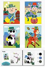 Комплект для рисования песком Панда и его друзья