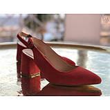 Женские замшевые туфли  с открытой пяткой Возможен отшив в других цветах замши и кожи, фото 3