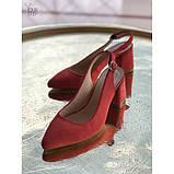 Женские замшевые туфли  с открытой пяткой Возможен отшив в других цветах замши и кожи, фото 2