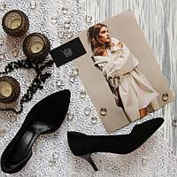 Женские замшевые туфли лодочки с вырезами Возможен отшив в других цветах замши