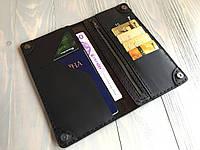 Портмоне ручної роботи з натуральної шкіри Goose™ Сlassic Zipper коричневий (тревел-кейс)