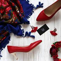 Женские туфли лодочки на невысоком каблуке Возможен отшив в других цветах кожи и замши