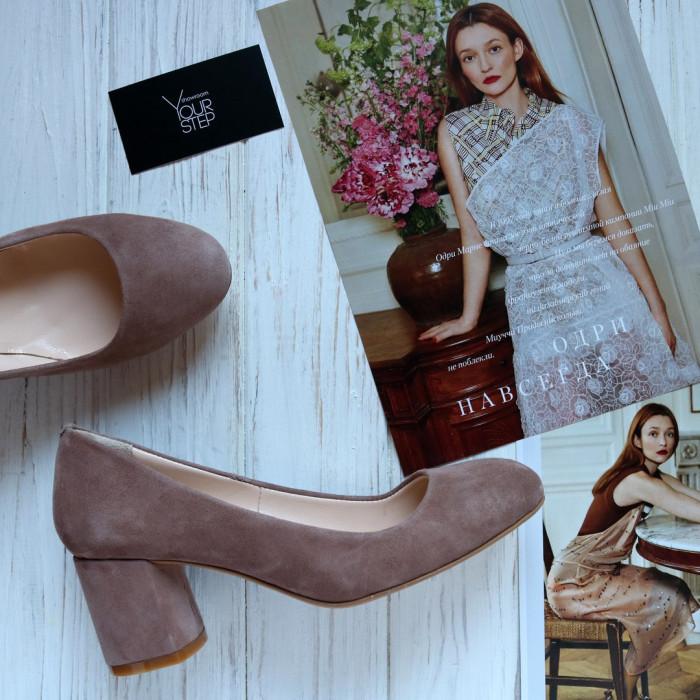 Женские туфли на каблуке . Натуральная замша . Возможен отшив в других цветах