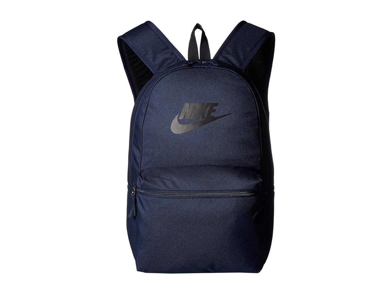 06971bca Рюкзак (Оригинал) Nike Heritage Backpack - Solid Obsidian/Black/Black -  TopUSA