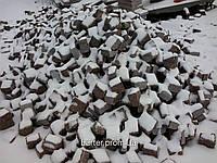 Производство брусчатки гранитной пиленая красная 10*10*5