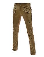 Мужские брюки (штаны) slim fit  дизайнерские беж M
