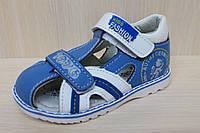 Детская летняя обувь, детские кожаные босоножки для мальчика тм JG р.21,22,23,26