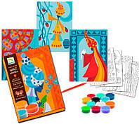 Художественный комплект рисование цветным песком Голубые принцессы