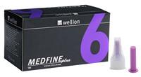 УНІВЕРСАЛЬНІ голки Wellion MEDFINE plus для інсулінових шприц-ручок 6мм ( 31G x 0,25 мм)