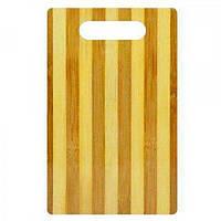 Доска разделочная деревяная для мяса и овощей 24х16см Stenson (WHW21746-3)