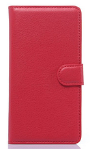 Кожаный чехол-книжка для Samsung Galaxy J1 Ace J110 красный