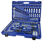 Набор инструментов 218 предметов, 1/4-3/8-1/2 дюйма, 6 граней, E-профиль, King Roy 31160-218-L