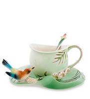 Фарфоровая чайная пара Радужная щурка (Pavone) FM- 78/ 2, фото 1